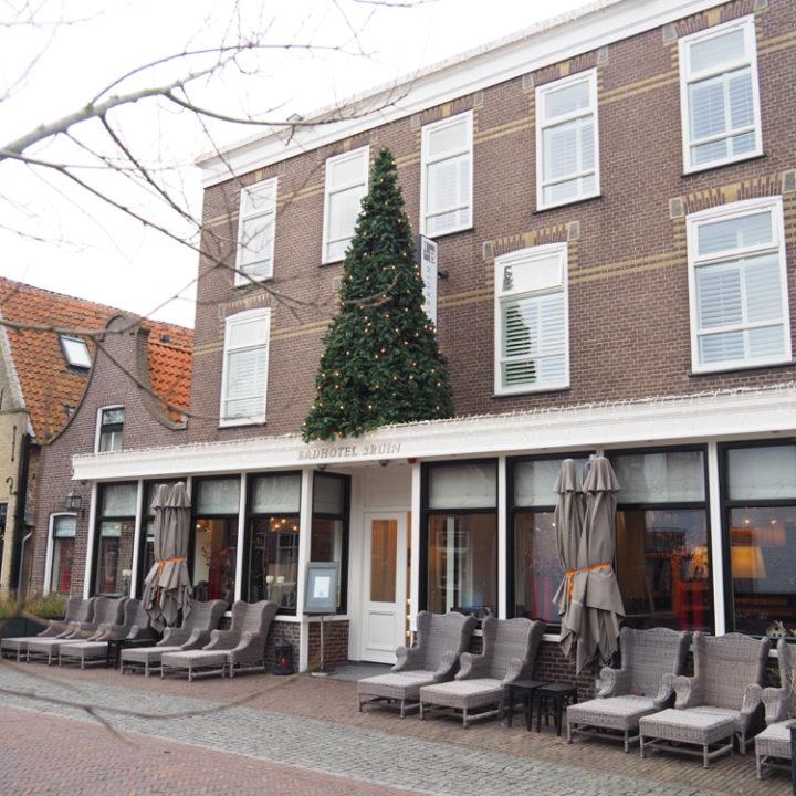 Badhotel Bruin, midden in het dorp.