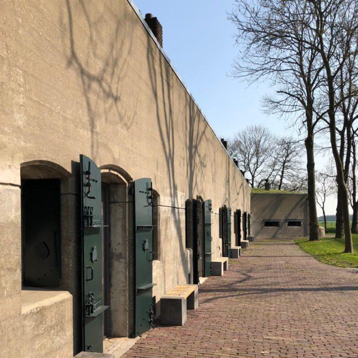 De muren van het fort