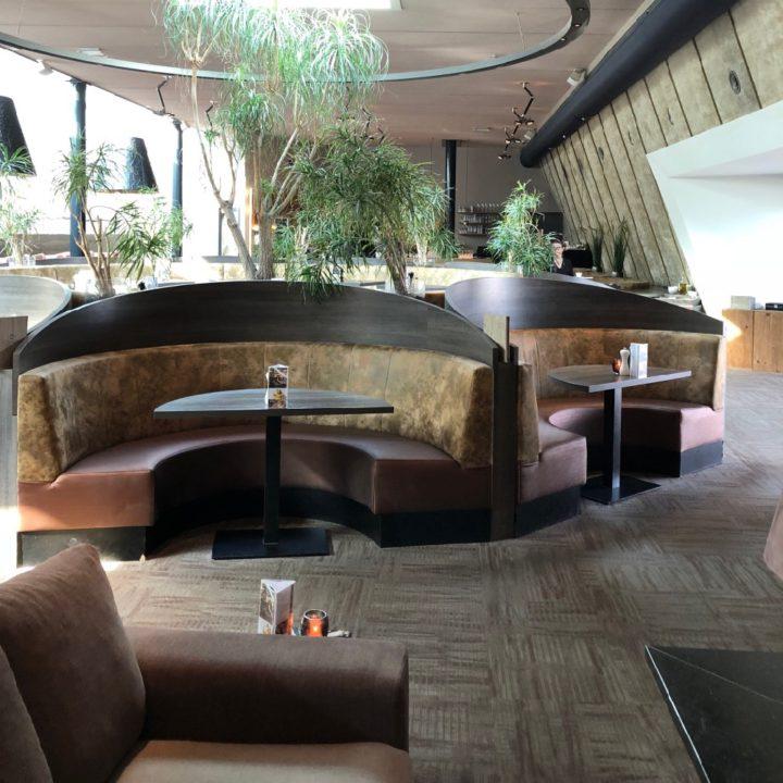 Relaxplekken in het restaurant van de wellness
