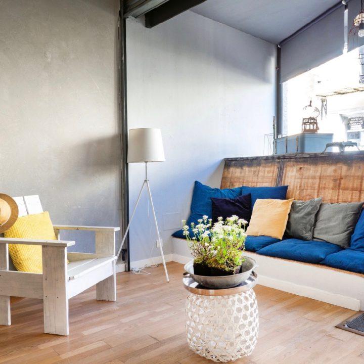 Zit-/loungehoek van het vakantieappartement