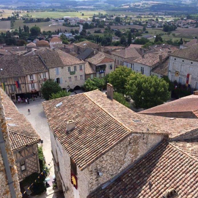 Historisch stadje vanaf de kerk gezien