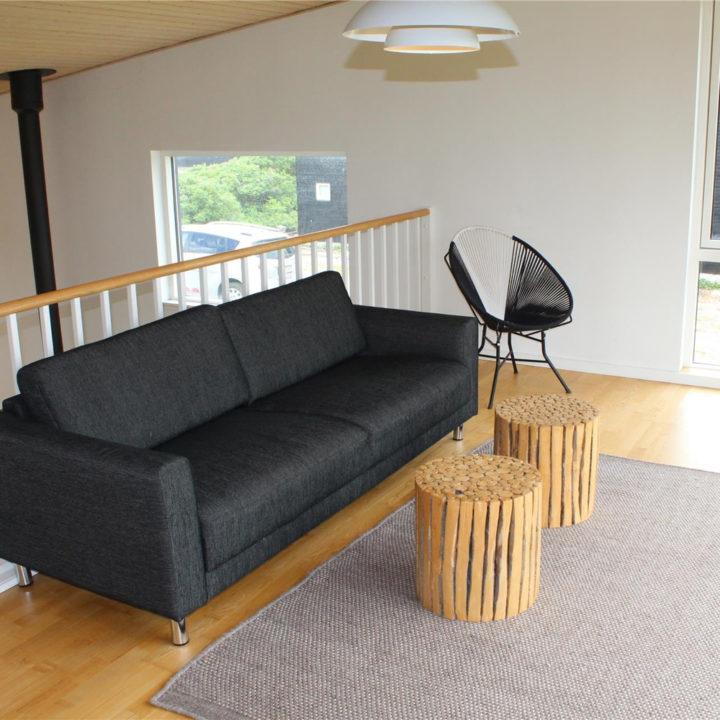 Vide met zithoek in een vakantiehuis op Funen