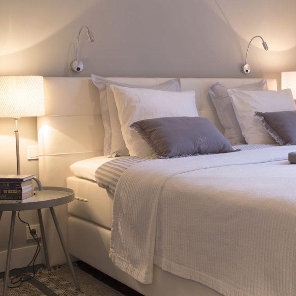 Opgemaakte bedden in Villa Voorenburg
