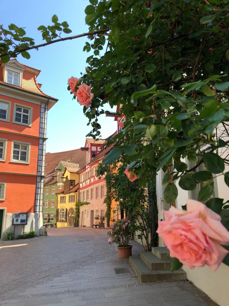 Kleurrijke huizen langs de straat