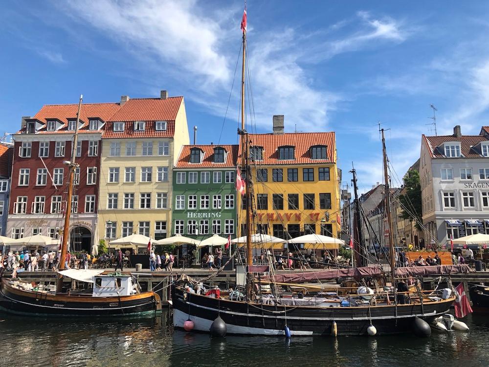 Gekleurde huisjes in Nyhavn