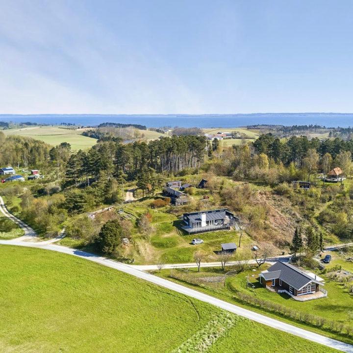 Luchtfoto Deense vakantiehuizen nabij zee