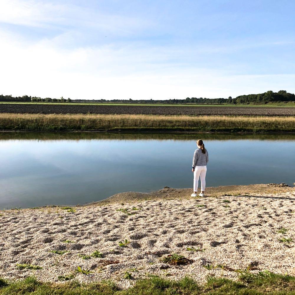 Eigen strandje met uitzicht over de Zeeuwse polders