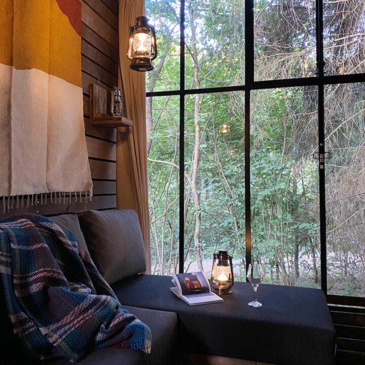 Cabin in het bos in de Ardennen