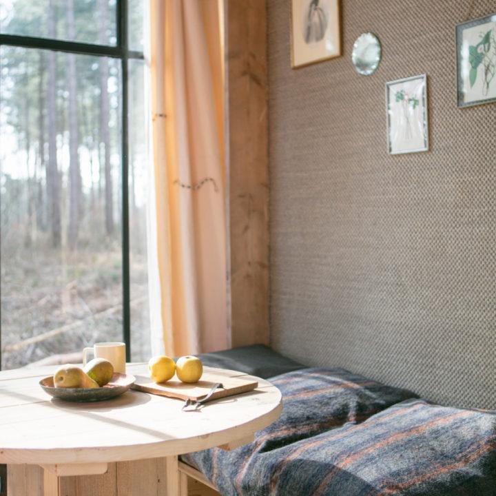 Zithoekje in de cabin