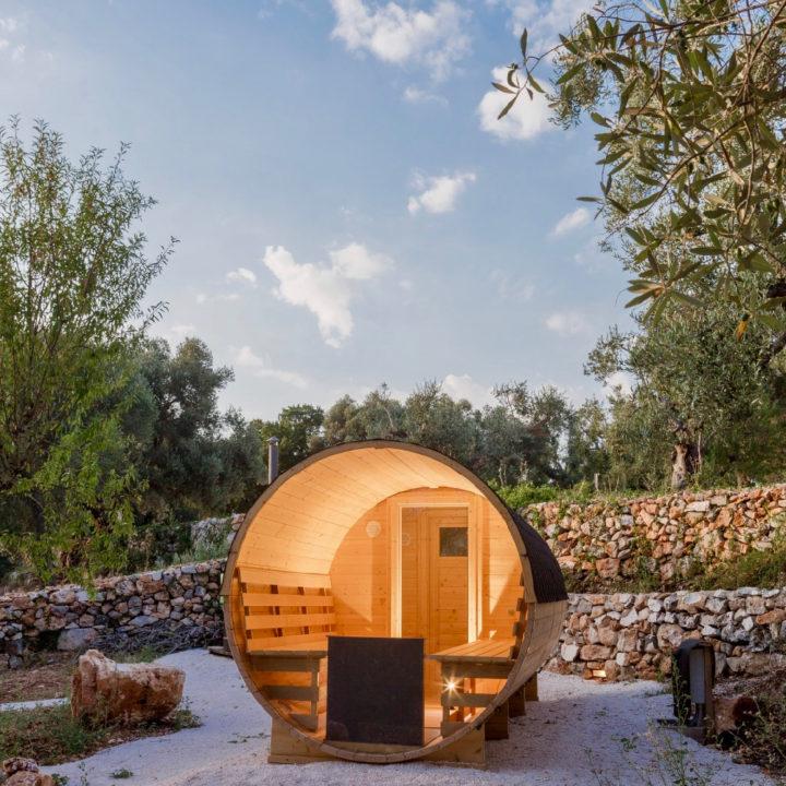 Sauna in een olijfgaard