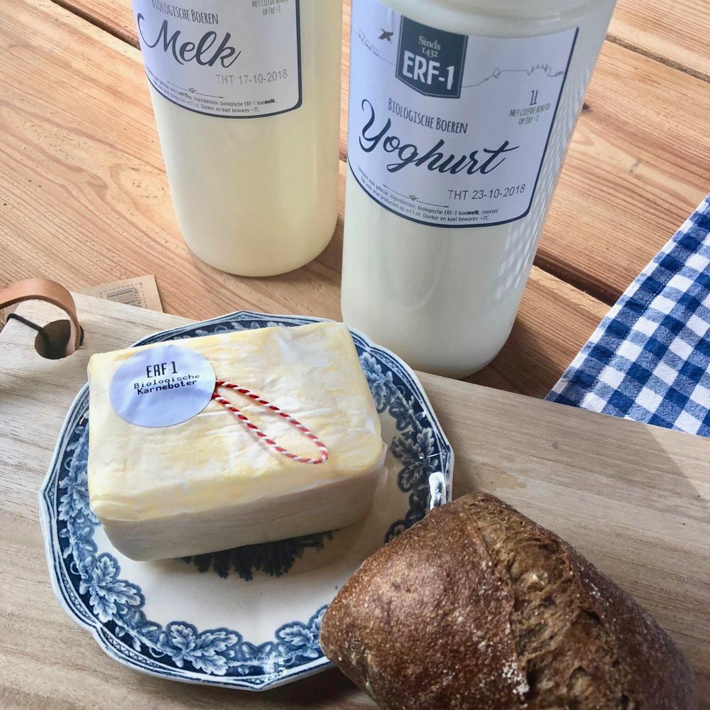 Huisgemaakte boter, kaas en yoghurt bij zuivelboerderij Erf1