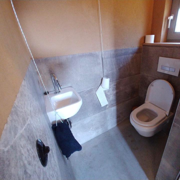 Toilet in het huis van Jo Daggert