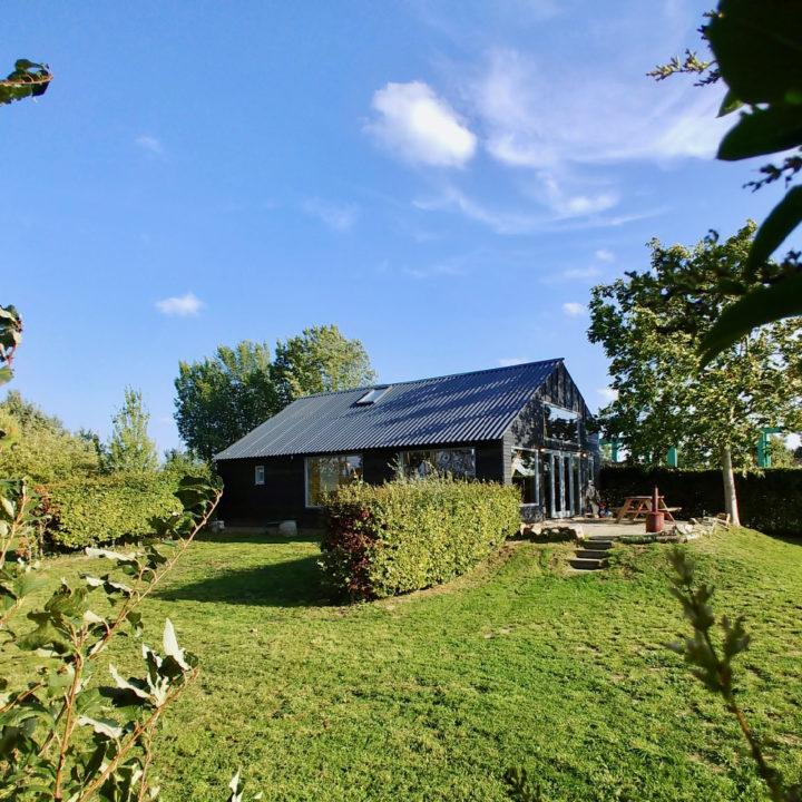 Buitenaanzicht van vakantiehuis van Jo Daggert
