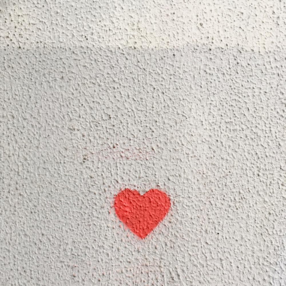 Een hartje op de muur in Straatsburg