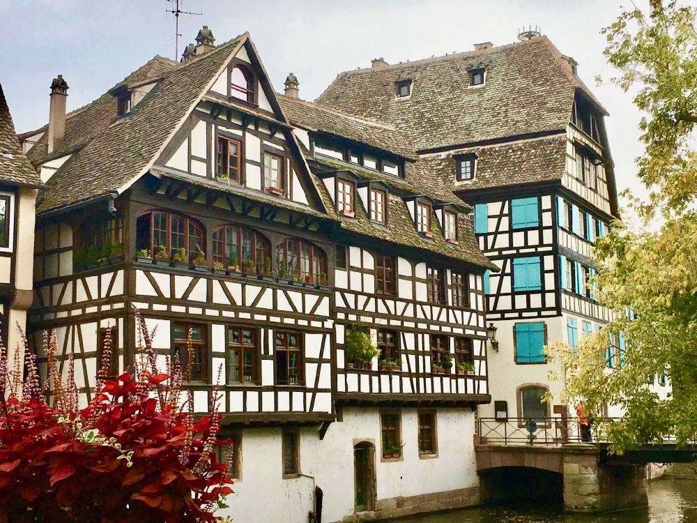 Vakwerkhuizen in de straten van Straatsburg