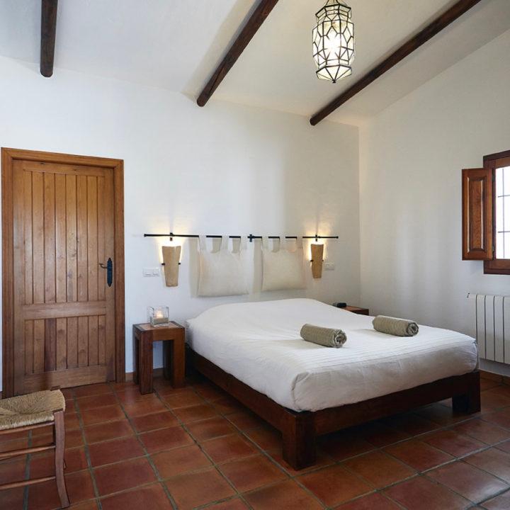Een van de bed and breakfast kamers