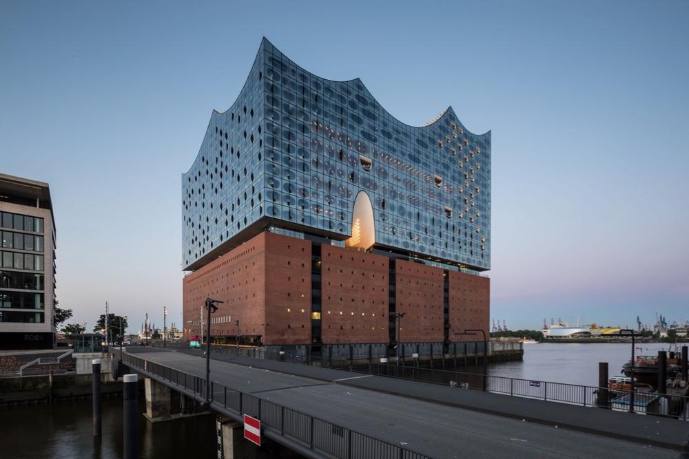 Het concertgebouw van Hamburg