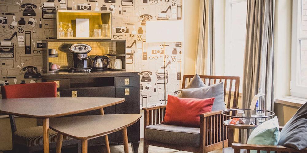 Loungehoek met vintage details