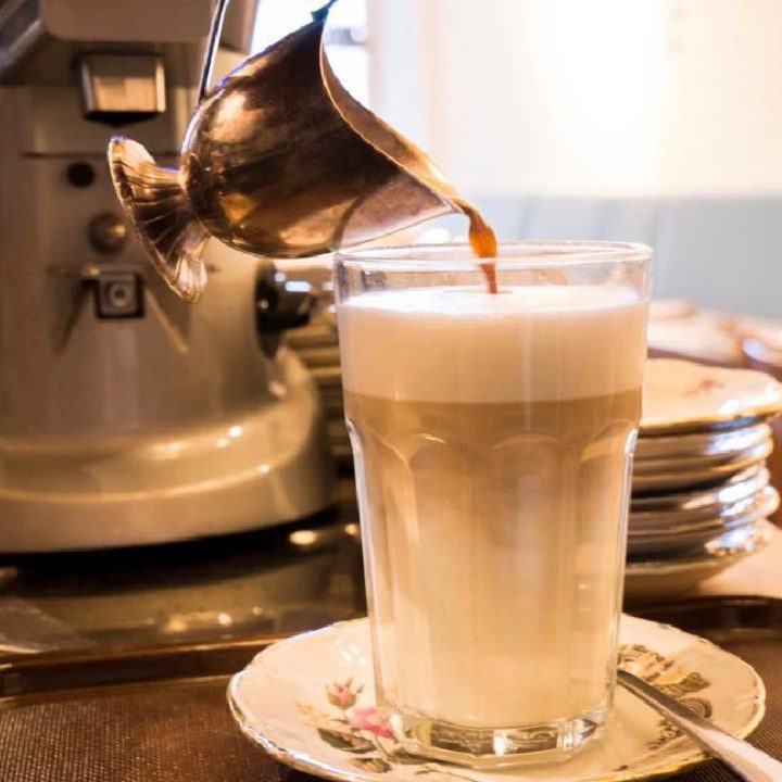 Een latte macchiato