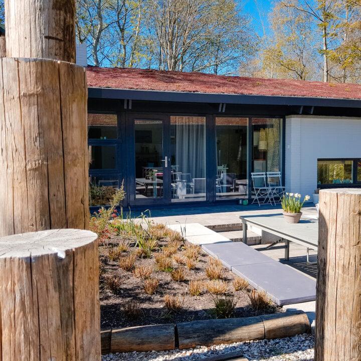 Entree naar het vakantiehuis in Lauwersoog