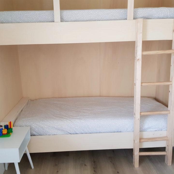 Stapelbed in een van de slaapkamers van het vakantiehuis