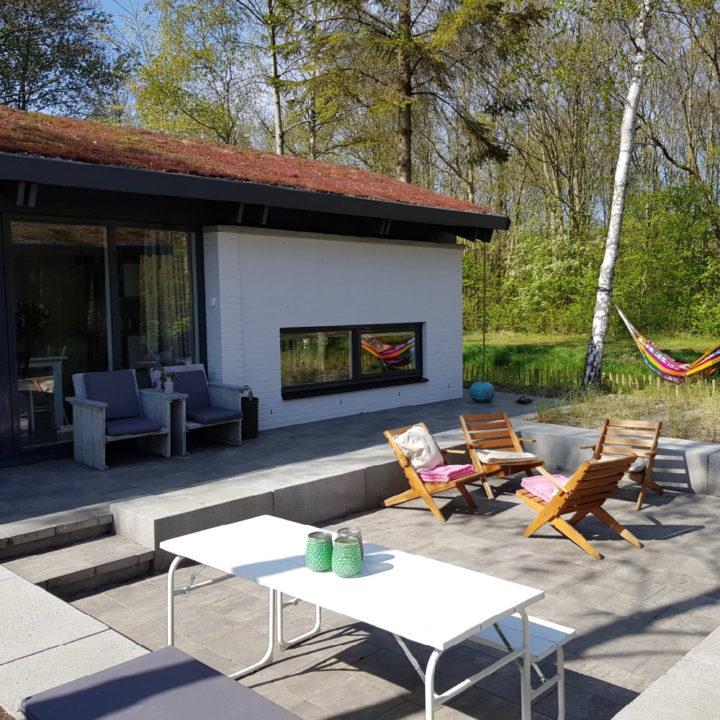 In de tuin van vakantiehuis FINT Lauwersoog