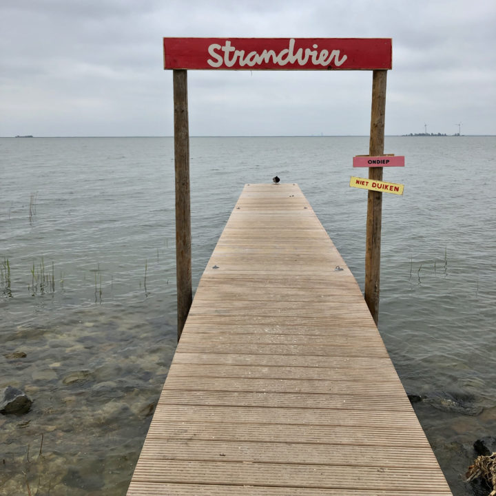 Steiger in het IJsselmeer