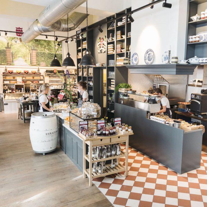Landelijk en industrieel interieur van een landgoedwinkel in Utrecht
