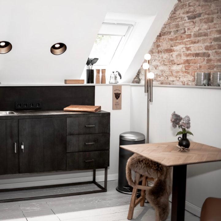 Keukenhoek in luxe appartement, voor een weekendje weg aan de Oostzee