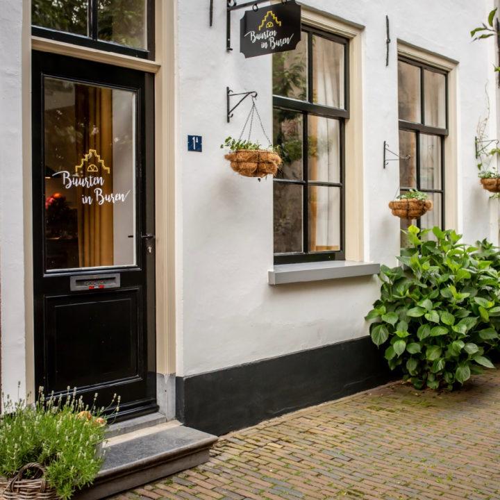Voordeur vakantiehuisje in Buren