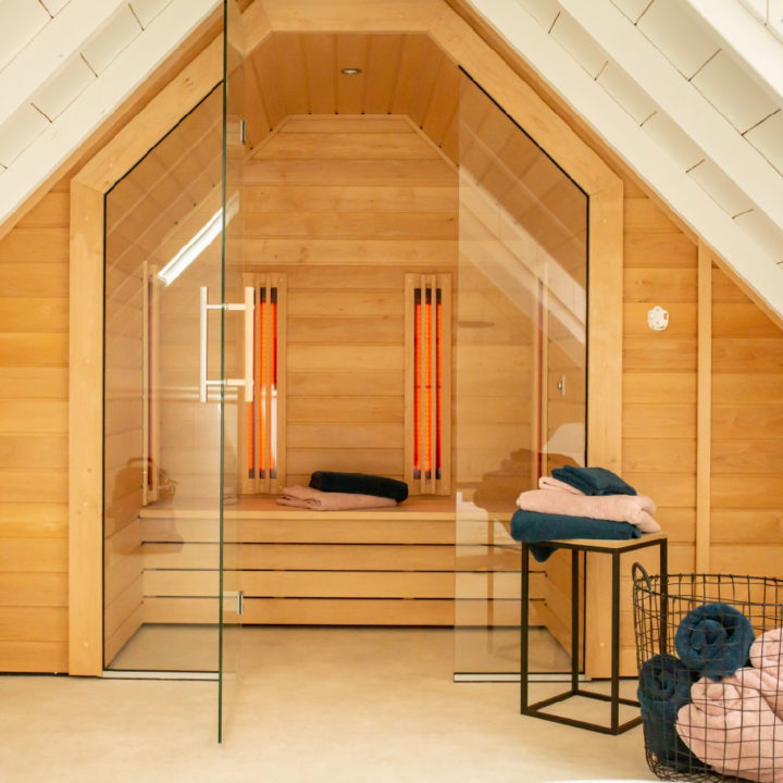 Sauna in het vakantiehuisje in Buren
