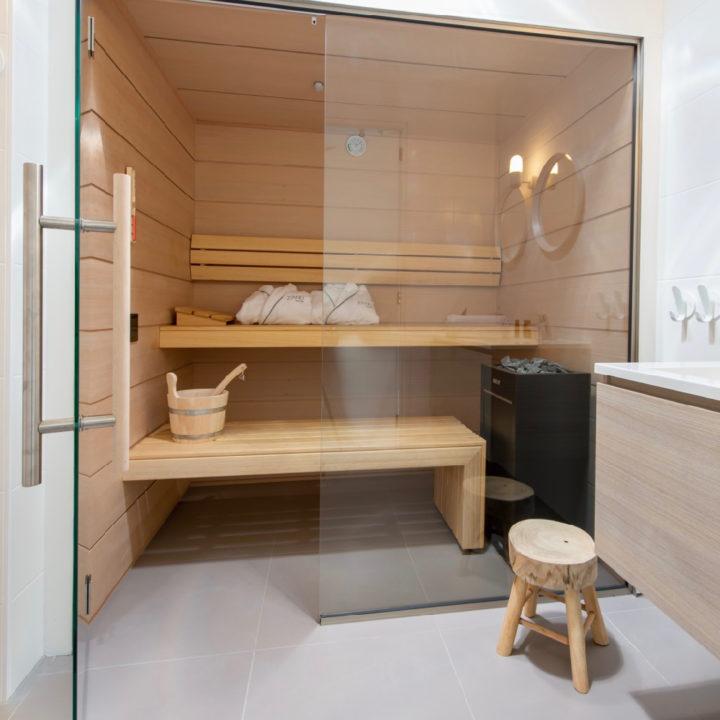 Sauna in de luxe vakantievilla