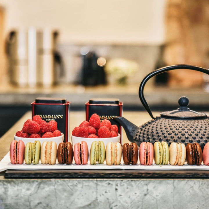 Macarons en thee