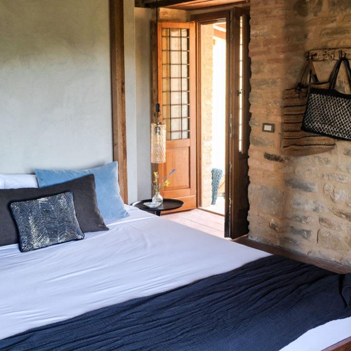 Slaapkamer van een vakantie appartement