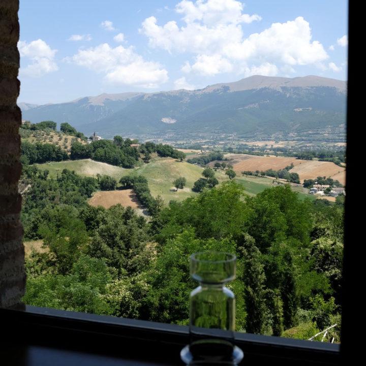 Uitzicht over de heuvels in Umbrië