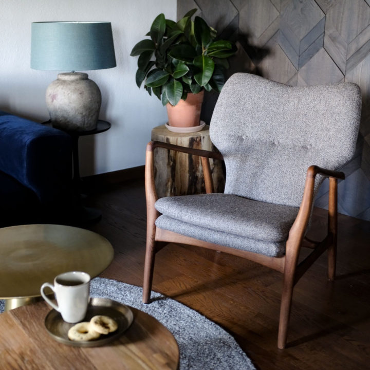 Modern fauteuil in Scandinavische stijl