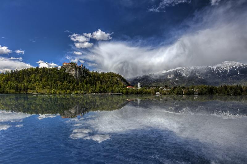 Het meer van Bled in Slovenië