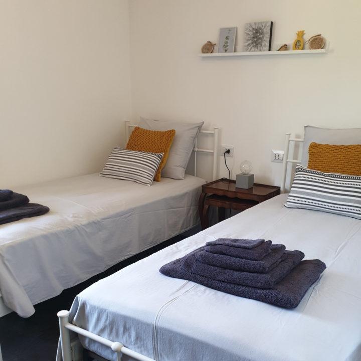 Slaapkamer in een vakantiehuis in de Piemonte