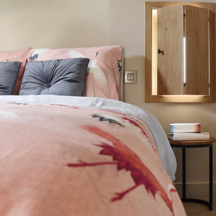 Linnen beddengoed in luxe B&B kamer