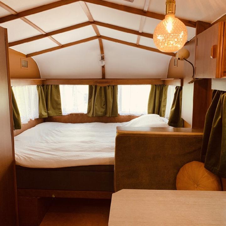 Slapen in een retro caravan