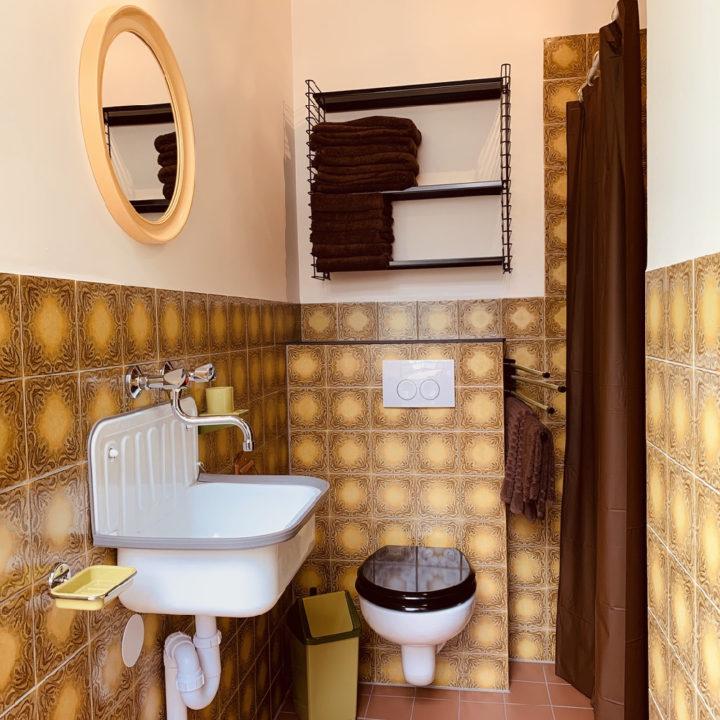 Badkamer in retro stijl