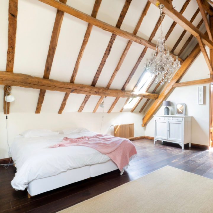 Slaapkamer van vakantie gite in Frankrijk
