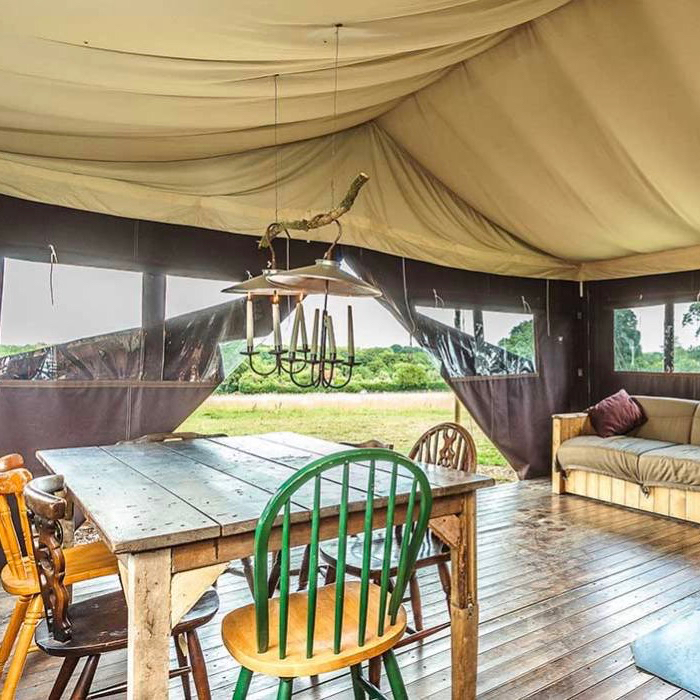 Authentiek logeren in een safaritent op Terschelling
