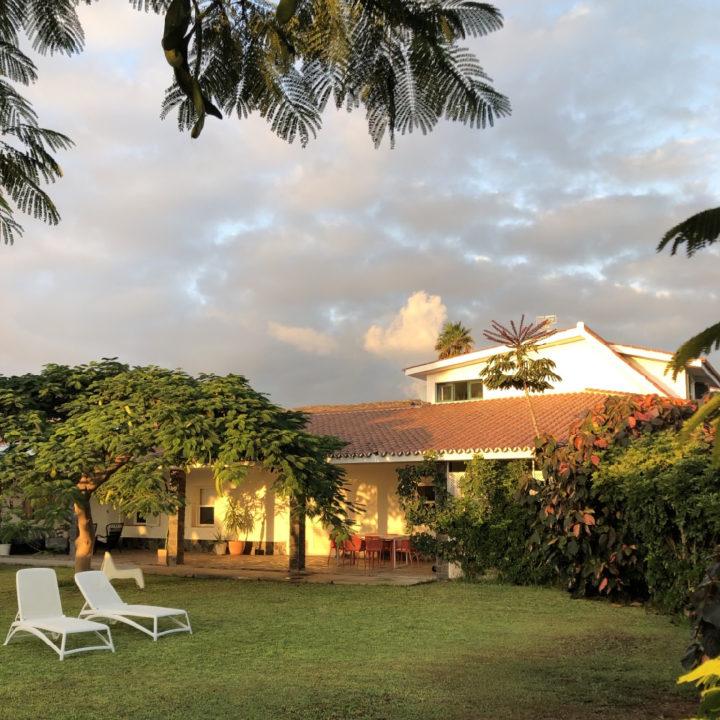 Vakantiehuis op een bananenplantage