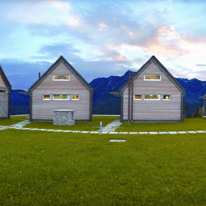 Huisjes in een groene omgeving