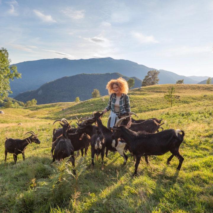 Vrouw met geiten