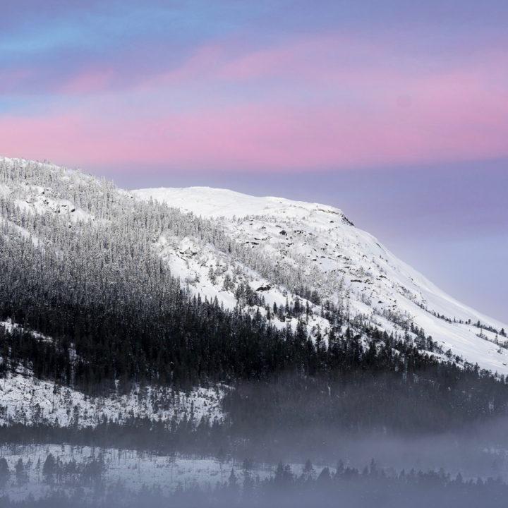 Sneeuwlandschap in Noorwegen