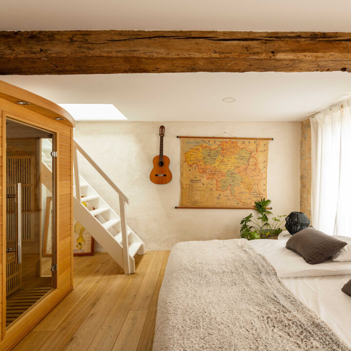 Slaapkamer met sauna in Frankrijk