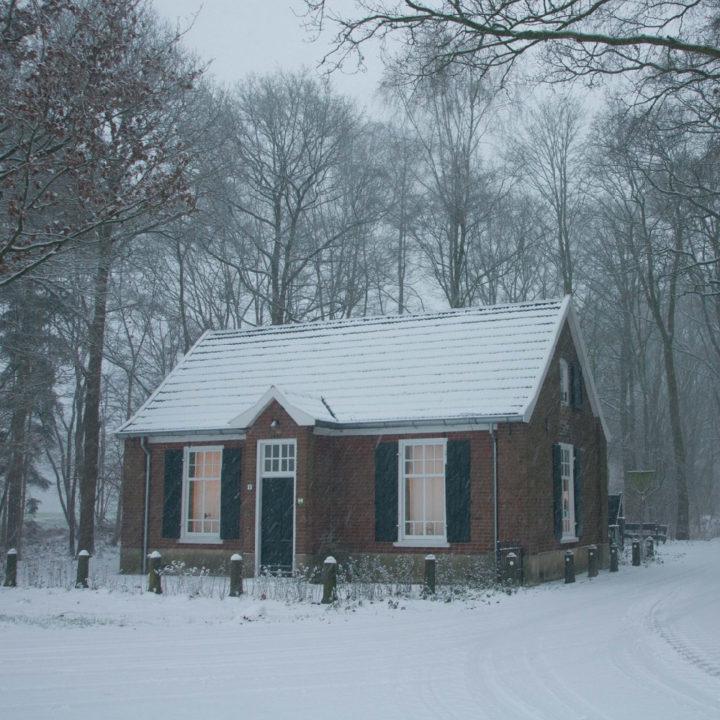 Vakantiehuis in de sneeuw, in de Achterhoek