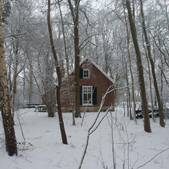 Vakantiehuis in winterlandschap